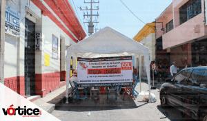 CNTE instala plantón indefinido en Comitán
