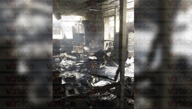Se incendian oficinas de la Secretaría de Salud