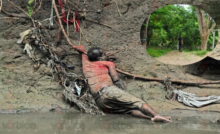 Encuentran cadáver a orillas del río Sabinal en Tuxtla