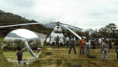 Helicóptero de la FAM realiza aterrizaje forzoso en Jaltenango