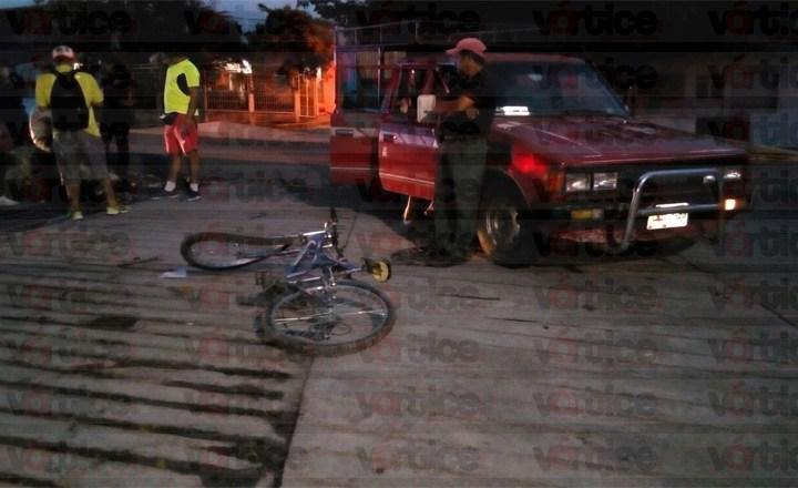 Atropellan a menor a bordo de su bicicleta sobre la Calzada al Sumidero