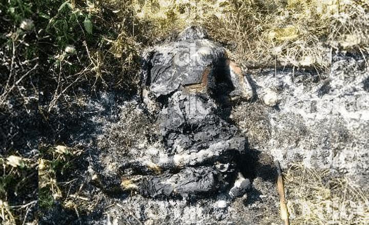 Hallan cadáver calcinado en Catazajá; podría tratarse de una mujer