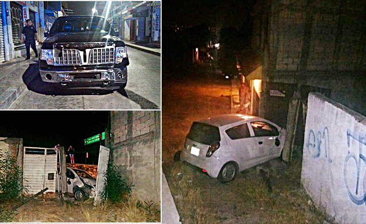 Abandonan tres vehículos en distintos puntos de Tuxtla tras accidentes