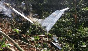 Cae avioneta que transportaba material para fabricar droga; hay dos pilotos calcinados