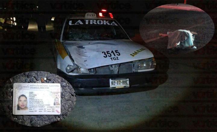 Veloz taxi mata a dama en el Libramiento Norte
