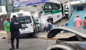 Colectivazo en Tuxtla Gutiérrez deja 10 heridos