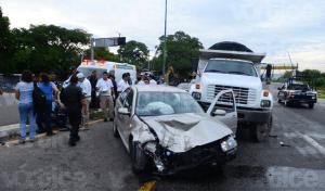 Encontronazo en Cahuaré deja dos personas lesionadas