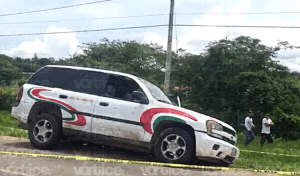 Rafaguean camioneta del candidato del PRI en La Trinitaria