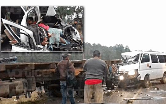 Carreterazo en Huixtán deja 3 muertos y varios heridos