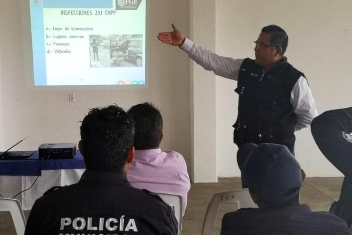 Capacita Fiscalía a policías municipales en Primer Respondiente
