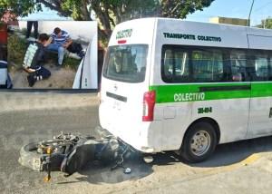 Motociclista choca contra un colectivo en Terán