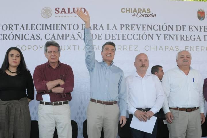 En Chiapas no hay pretextos para atender la salud: Rutilio Escandón
