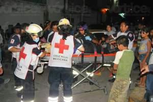 Aparatoso accidente deja dos heridos en Patria Nueva