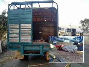 Abandonan dos cadáveres en la redila de un camión en Carranza