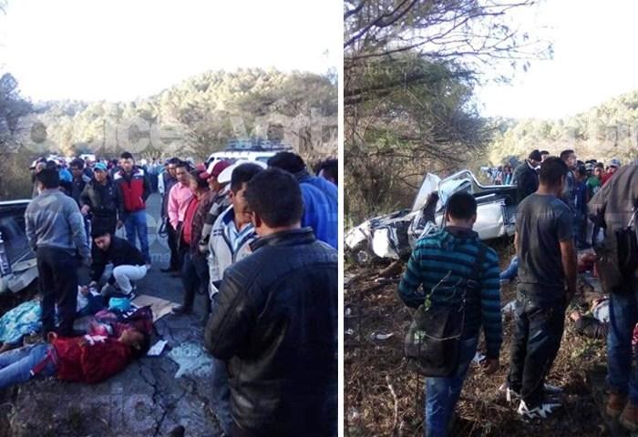 Volcadura deja tres muertos y tres heridos en Chiapas
