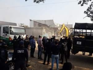 ¡Otro golpe al MOCRI! Desalojan un predio más en Berriozábal