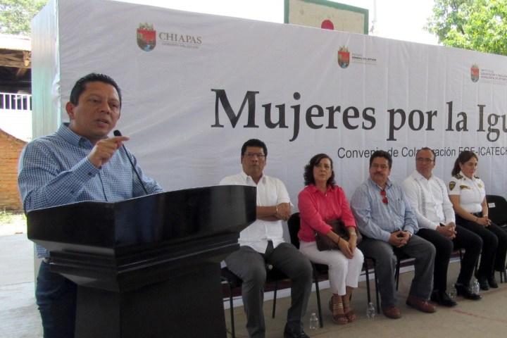 Suman esfuerzos Fiscalía e Icatech por la legalidad y productividad en Chiapas