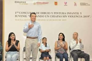 Rutilio destaca participación de la niñez y la juventud para lograr un Chiapas sin violencia