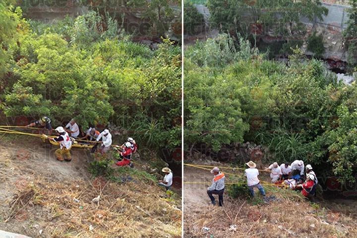 Familia se va a un barranco en Chiapa de Corzo y tres resultan heridos