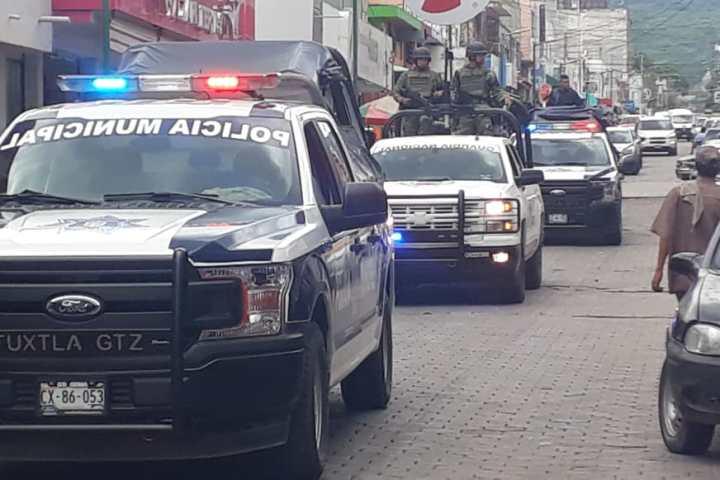 Refuerzan seguridad con elementos de la Guardia Nacional en Tuxtla