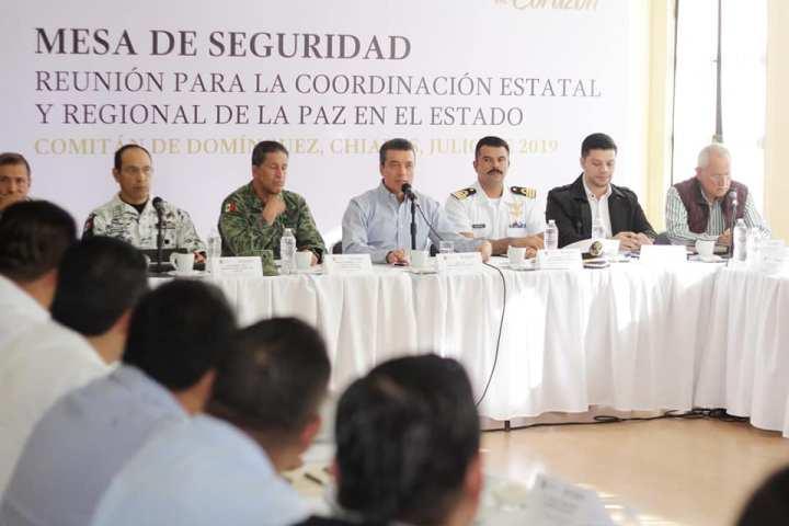 Desde los municipios, reforzamos acciones que garanticen la seguridad de Chiapas: Rutilio Escandón