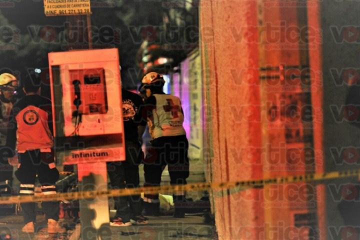Asesinan de un balazo en el pecho a peatón en Tuxtla