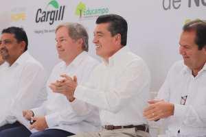 Ante Rutilio Escandón, empresa mundial Cargill presenta proyectos a favor de productores