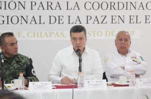 Encabeza Rutilio Escandón Mesa Regional y Estatal de Seguridad en Palenque
