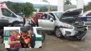 Acelerado colectivero provoca accidente y deja cinco heridos