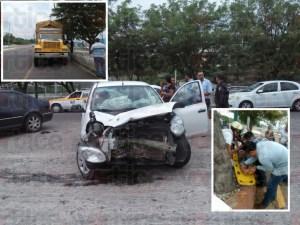 Aparatosa colisión vehicular deja un herido