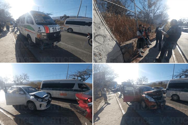 Carambolazo en Tuxtla deja 12 heridos