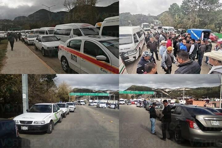"Transportistas ""paran"" San Cristóbal en protesta a la presidenta municipal"