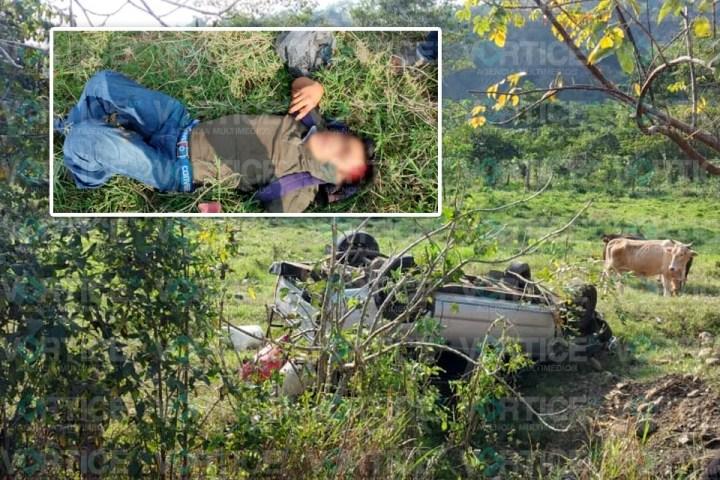 Aparatosa volcadura deja varios heridos en Simojovel