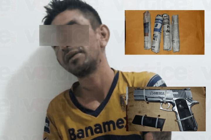 Lo detuvieron con droga y un arma de fuego