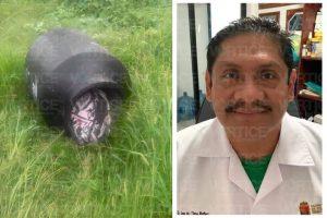 Cadáver desmembrado pertenece al del doctor extraviado en Tuxtla