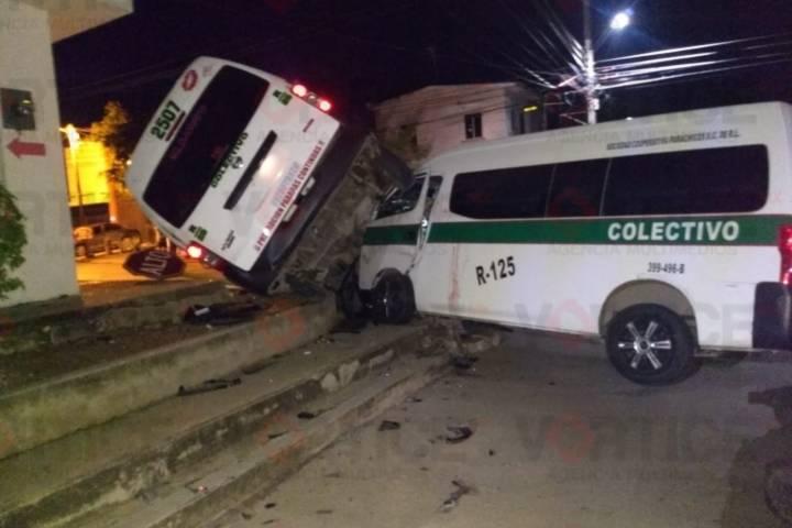 Colisión entre transportistas deja un herido