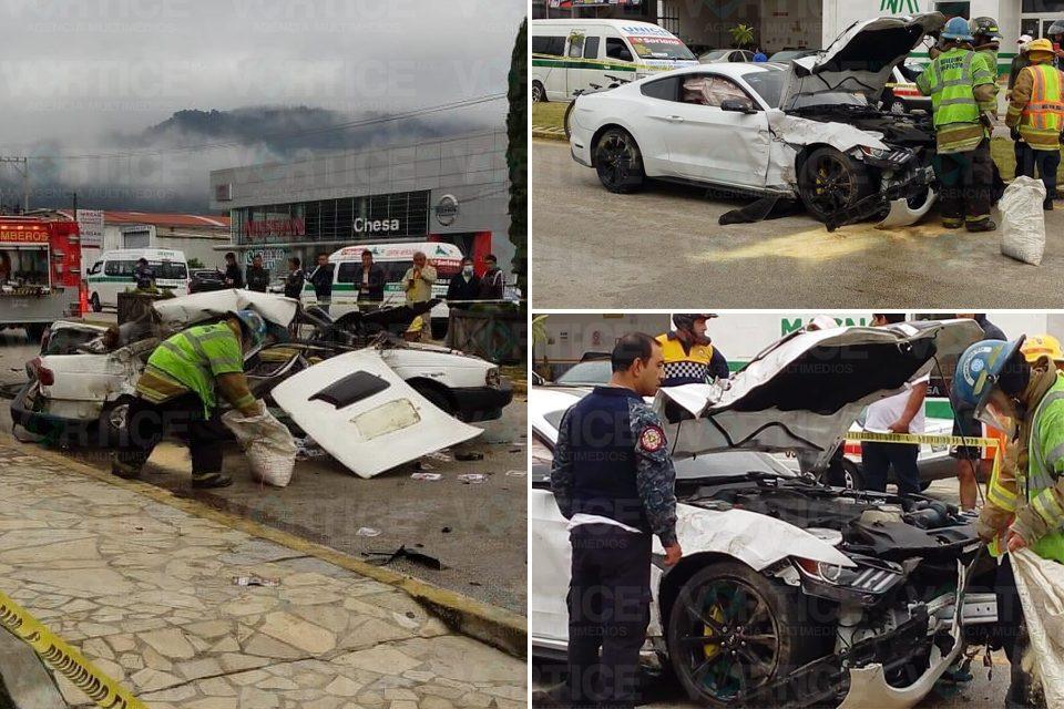 Muere conductor de Tsuru en violento accidente en San Cristóbal