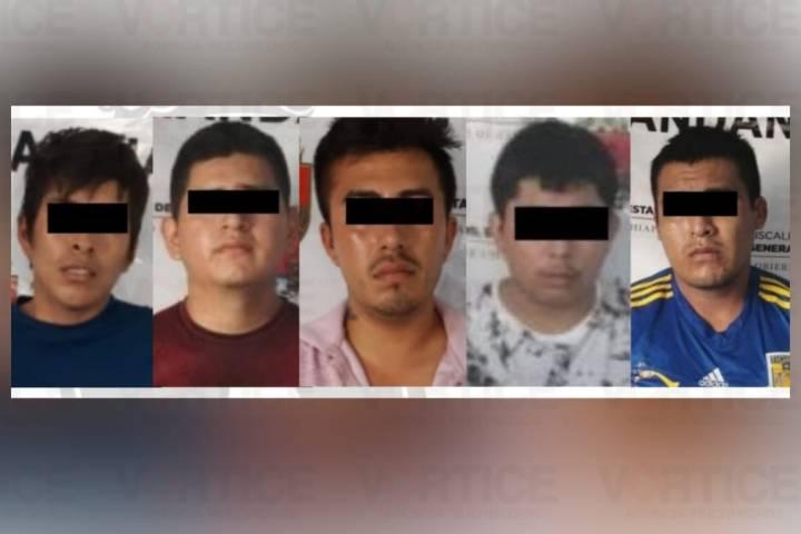 Detiene FGE a cinco implicados en homicidio en Palenque