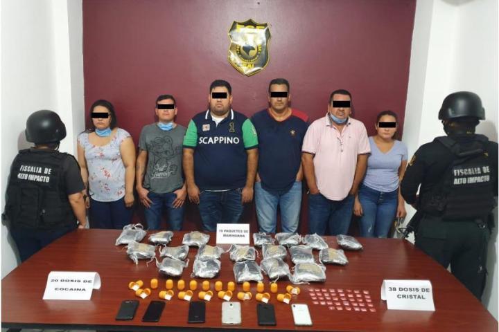 Detienen seis implicados por narcomenudeo en Tuxtla