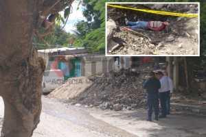 Asesinan a tiros a albañil en Plan Chiapas
