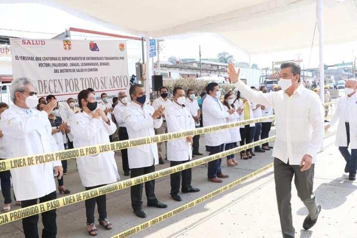 Inversión en salud para proteger al pueblo continúa fortaleciéndose: Rutilio Escandón