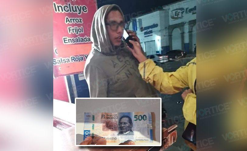 Detienen a otro joven con billetes falsos en San Cristóbal