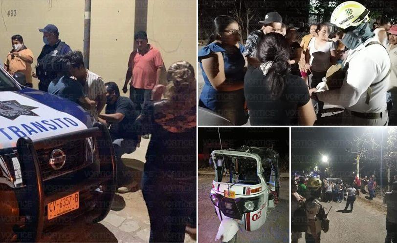 Detienen a conductor que chocó contra camioneta y mototaxi en Copoya