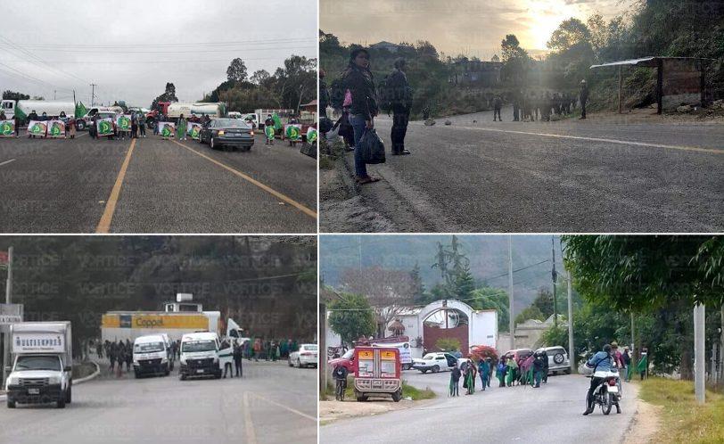 Estas son las carreteras bloqueadas hoy en Chiapas
