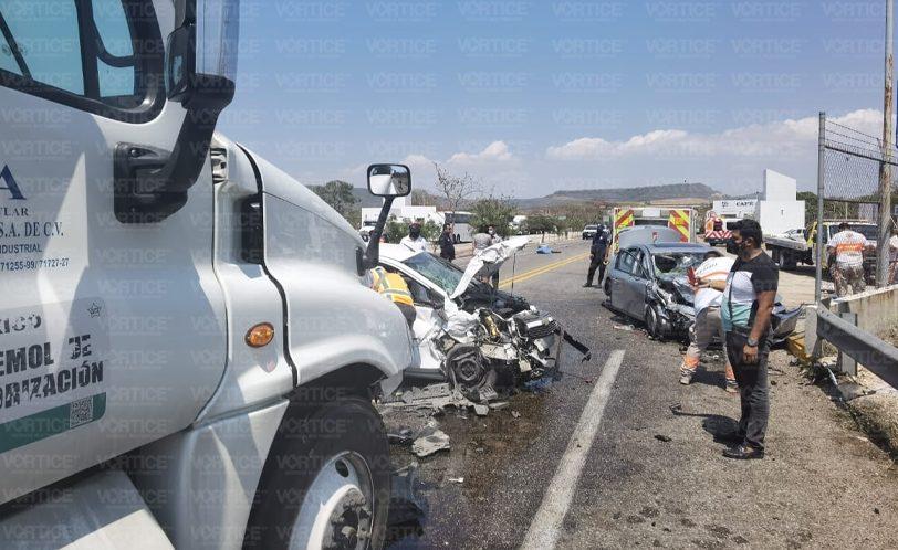 Muere motociclista tras carambolazo en la vía Coita Jiquipilas