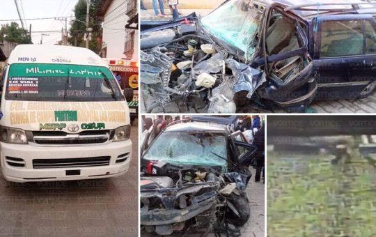 Violento choque deja varios heridos en San Cristóbal