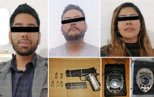 Se hacían pasar por policías de la FGE; fueron detenidos en persecución