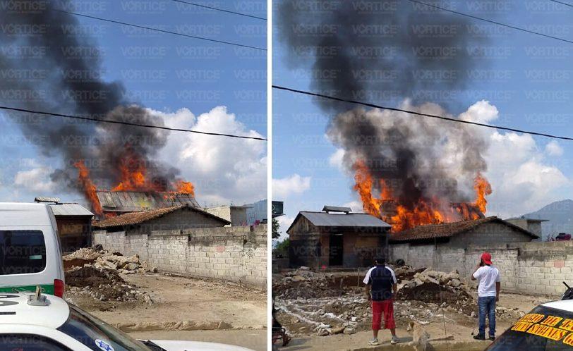 Se incendia vivienda en San Antonio del Monte