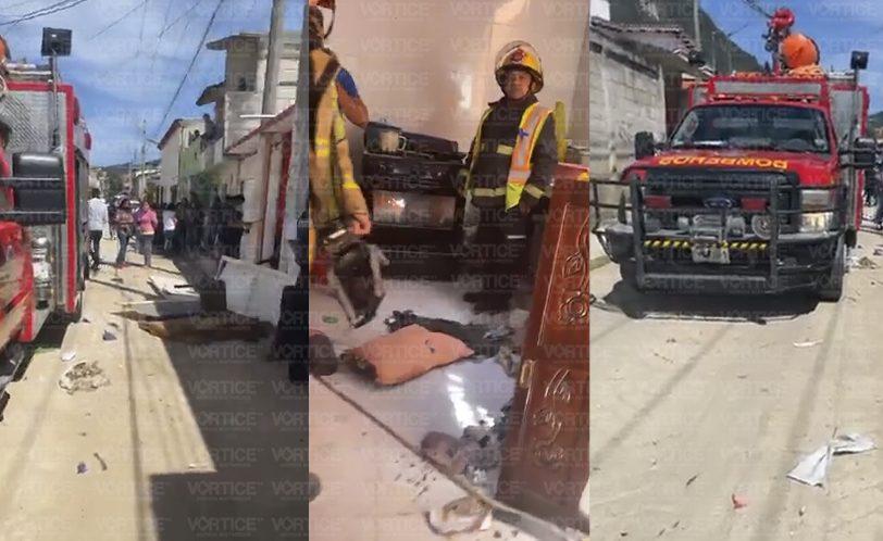 Explota tanque de gas LP dentro de una vivienda en San Cristóbal