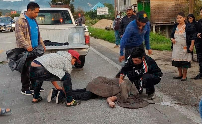 Localizan cadáver en medio de la carretera en Teopisca